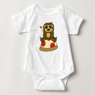 Pizza Sloth Baby Bodysuit
