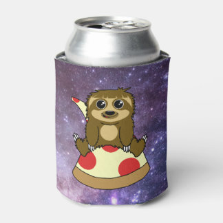 Pizza Sloth Can Cooler