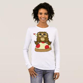 Pizza Sloth Long Sleeve T-Shirt
