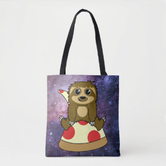 Pizza Sloth Tote Bag