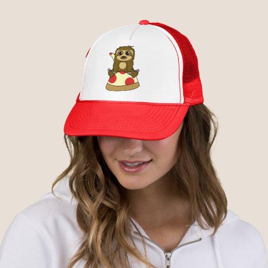 Pizza Sloth Trucker Hat