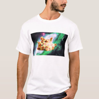 Pizza Space Kitten T-Shirt