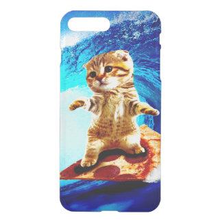 Pizza Surfing Cat iPhone 8 Plus/7 Plus Case