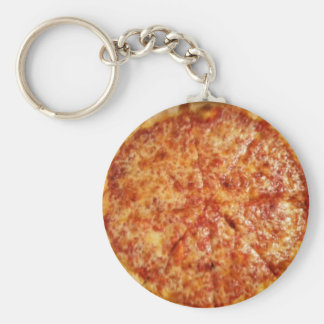 Pizza Time! Basic Round Button Key Ring