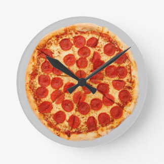 pizza time! round clock