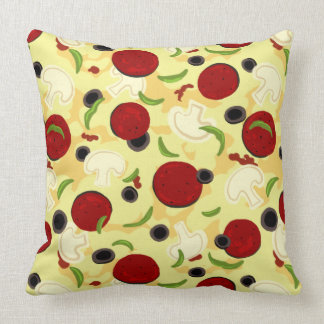 Pizza Toppings Pattern Cushion