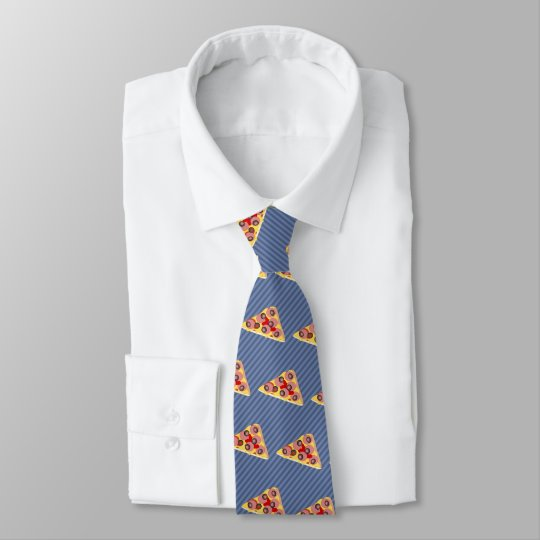 Pizza Triangle - Custom Background Colour - Tie