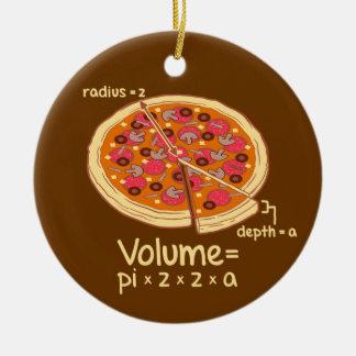 Pizza Volume Mathematical Formula = Pi*z*z*a Christmas Ornament