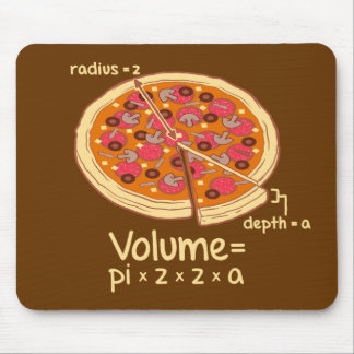 Pizza Volume Mathematical Formula = Pi*z*z*a Mouse Mat