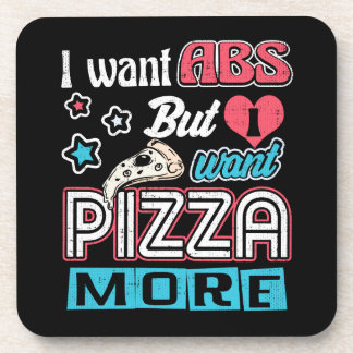 Pizza vs Abs - Bulking Diet - Funny Carbs Novelty Coaster