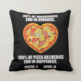 Pizza vs Love Cushion