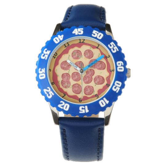 Pizza watch with numbers