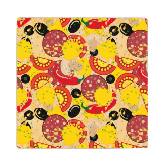 Pizza Wood Coaster