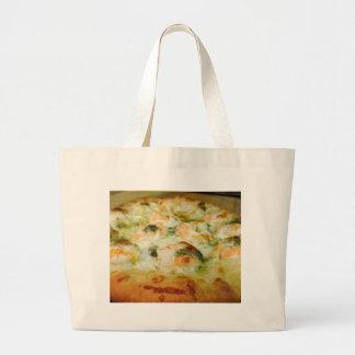Pizzas Cheese Pesto Shrimp Jumbo Tote Bag