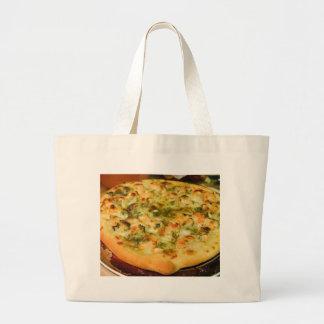 Pizzas Food Cheeses Shrimp Pesto Jumbo Tote Bag