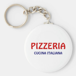 Pizzeria Basic Round Button Key Ring
