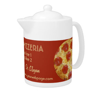 PIZZERIA custom teapot