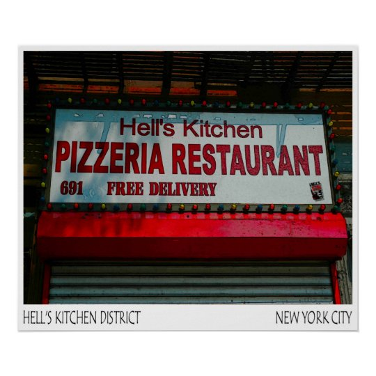 PIZZERIA HELLS KITCHEN- POSTER