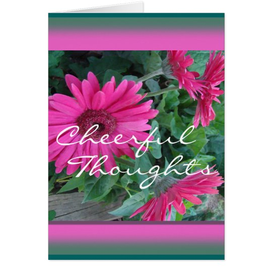 Pk Gerber Daisy Card-customise any occasion Card