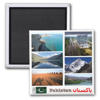 PK - Pakistan - Collage Mosaic Magnet