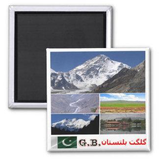 PK - Pakistan - Gilgit–Baltistan - Collage Mosaic Magnet