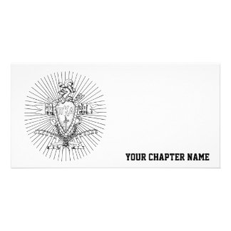 PKA Crest BW Weathered Card