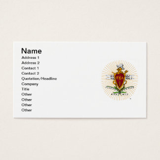 PKA Crest Color Weathered Business Card