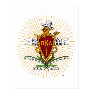 PKA Crest Color Weathered Postcard