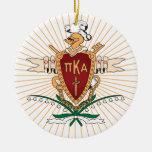 PKA Crest Colour Round Ceramic Decoration