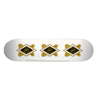 PKA Gold Diamond Skate Board Deck