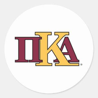 PKA Letters Classic Round Sticker