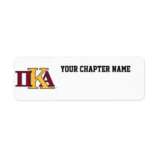 PKA Letters Return Address Label