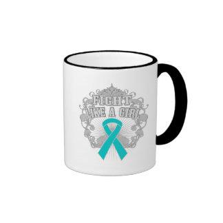 PKD Fight Like A Girl Fleurish Coffee Mug