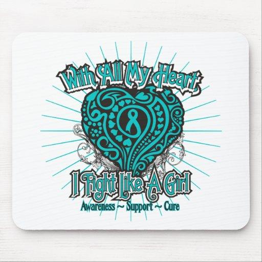 PKD Heart I Fight Like A Girl Mouse Pad