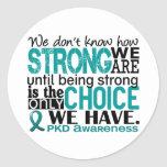 PKD How Strong We Are Round Sticker