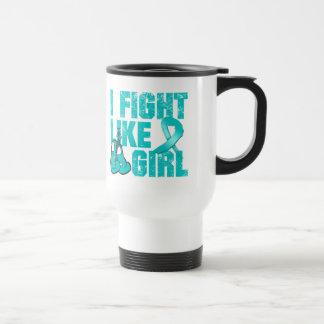 PKD I Fight Like A Girl (Grunge) Coffee Mugs