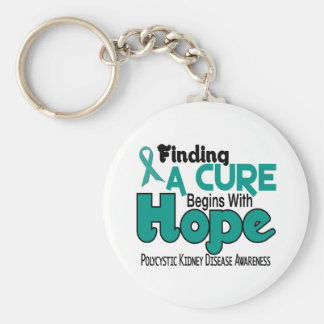 PKD Polycystic Kidney Disease HOPE 5 Basic Round Button Key Ring