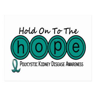 PKD Polycystic Kidney Disease HOPE 6 Postcard