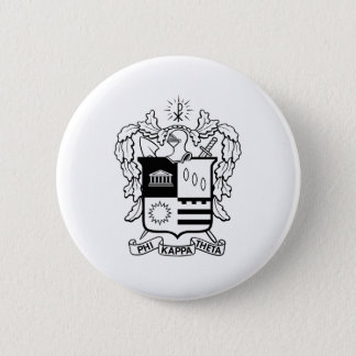 PKT Crest Black 6 Cm Round Badge