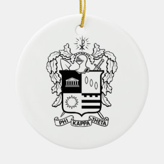 PKT Crest Black Christmas Ornament