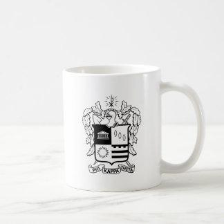 PKT Crest Black Coffee Mug