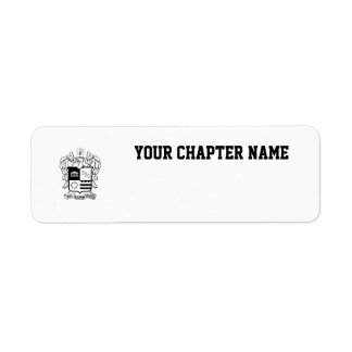 PKT Crest Black Return Address Label