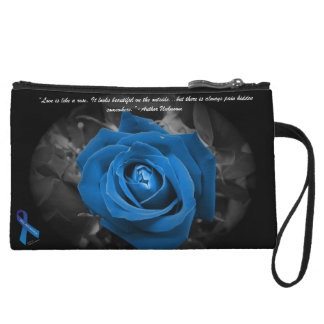 PKU Awareness Blue Rose Quote Mini Cluth Wristlet