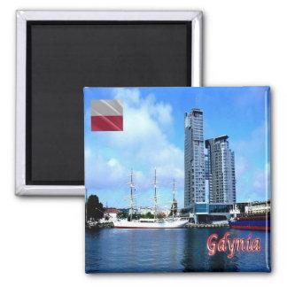 PL - Poland - Gdynia - Panorama Square Magnet