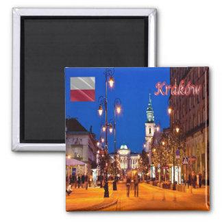 PL - Poland - Kraków - LONG COURSE Square Magnet