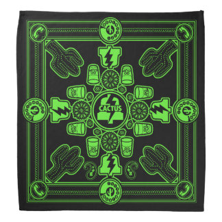 PLA Bandana designed by Don Fickles (green print)