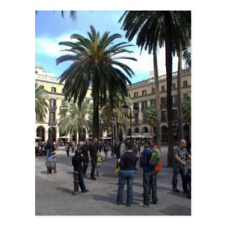 Plaça Reial, Barcelona Postcard