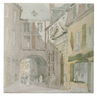Place Barthelme, Paris, c.1829 (w/c & grey wash ov Tile