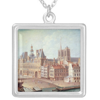 Place de Greve in 1750 Silver Plated Necklace