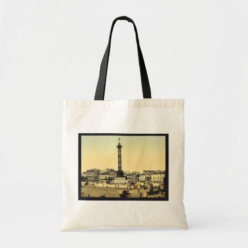 Place de la Bastille, Paris, France classic Photoc Bag